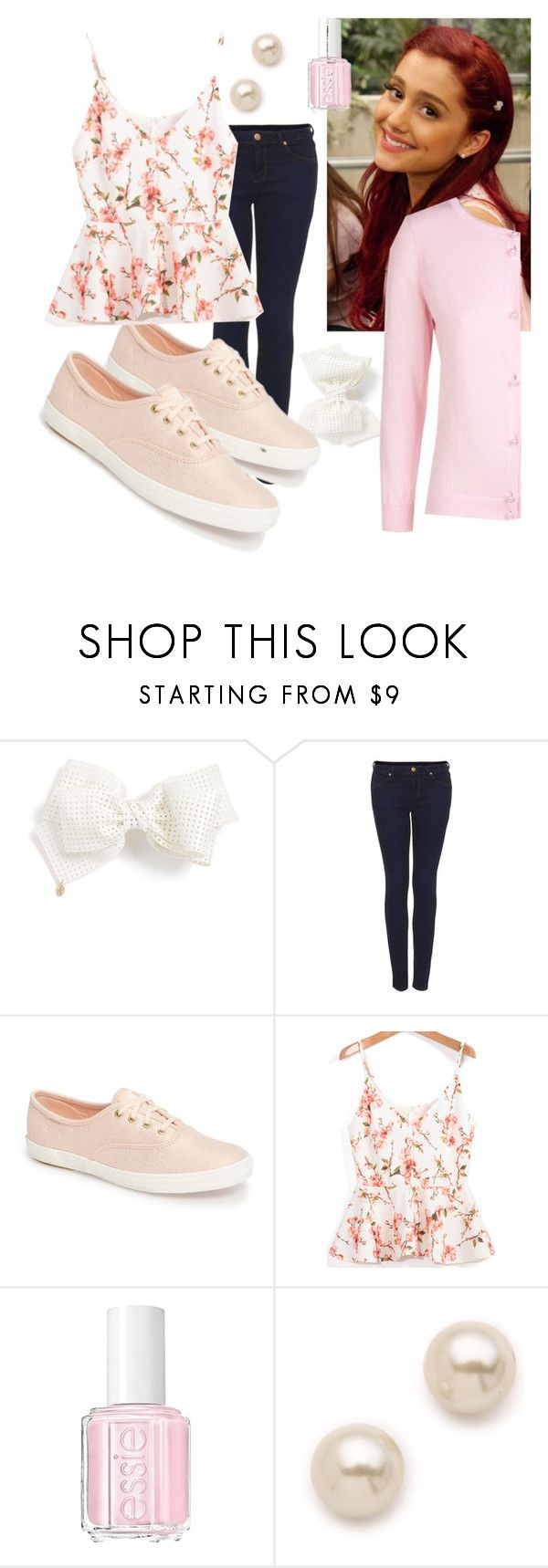 """""""Cat Valentine   (Victorious)"""" by desiremeb ❤ liked on Polyvore featuring Cara Accessories, Topshop, Keds, Essie, Juliet & Company and Xandres xline"""