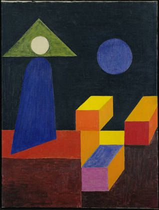 Johannes Itten (Swiss, 1888–1967),  Space Composition, II, 1944. Master who lectured on color theory at the Bauhaus.