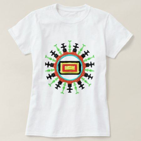 colorful abstract cool unique circle pattern T-Shirt - click/tap to personalize and buy