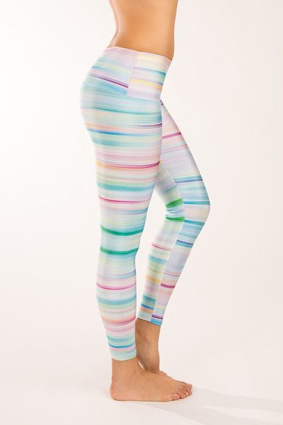 Summer Stripe Yoga Pants - Nóli Yoga