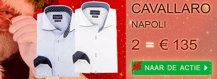 Aantrekkelijke #Kerstaanbieding voor #Cavallaro: 2 Italiaanse #overhemden nu voor slechts € 135. Bekijk alle modellen op https://www.shirtsupplier.nl/nl/voordeelpacks/filter/pack/32 #Italië