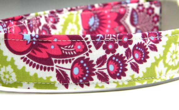 Dog Collar: Paisley Garden... Hot Pink, Lime, Purple, Pet Collar  Possible collar for Dane