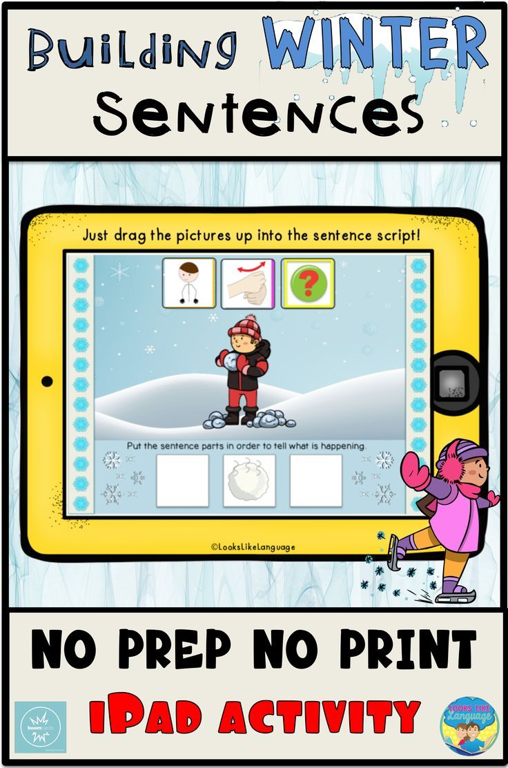Boom cards distance learning speech therapy winter