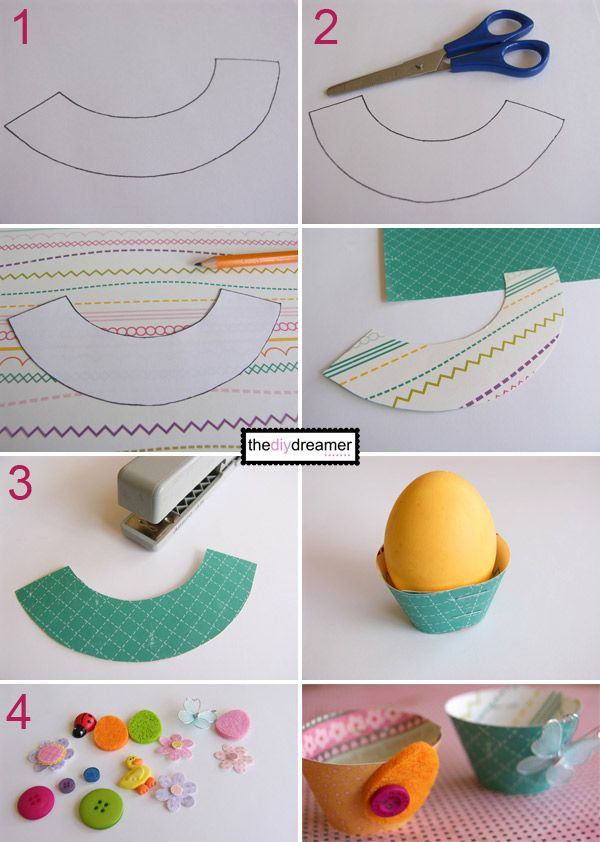 Easter Egg Wrappers Tutorial - Quick, Easy and FUN! - TheDIYDreamer.com #easter #eastercrafts #eastereggwrappers