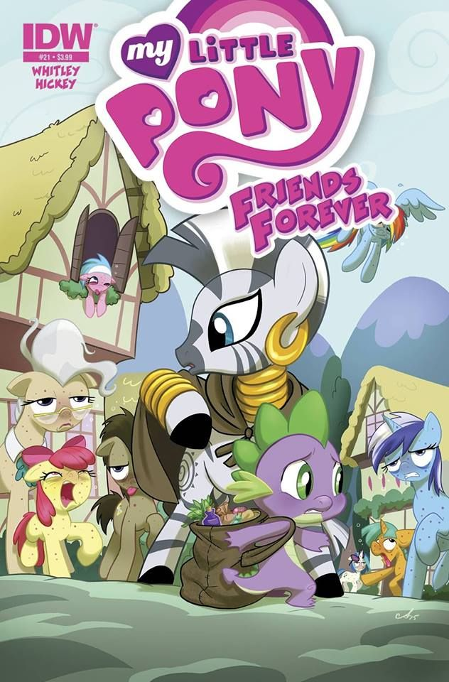 """Ted Anderson (script), Agnes Garbowska (art), """" My Little Pony: Friends Forever #21"""", IDW Publishing, October 2015."""