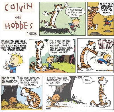 ethical relativism and calvin and hobbes Theology of calvin and hobbes  ethical if god knows the future, why pray  moral relativism how was jesus political.