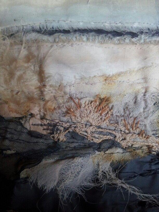 Section detail - Laura Edgar #textile art