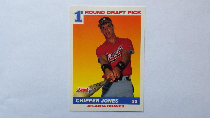 1991 topps baseball cards chipper jones