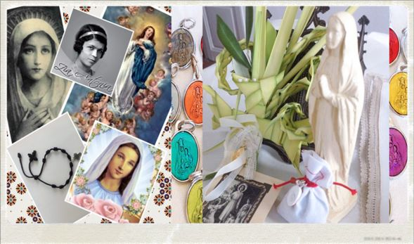 Ce petit sac en tissu de coton blanc contient toutes sortes d'amulettes... Amulettes & Grigri - Zia Antonia Porte-Bonheur Traditionnel Corse