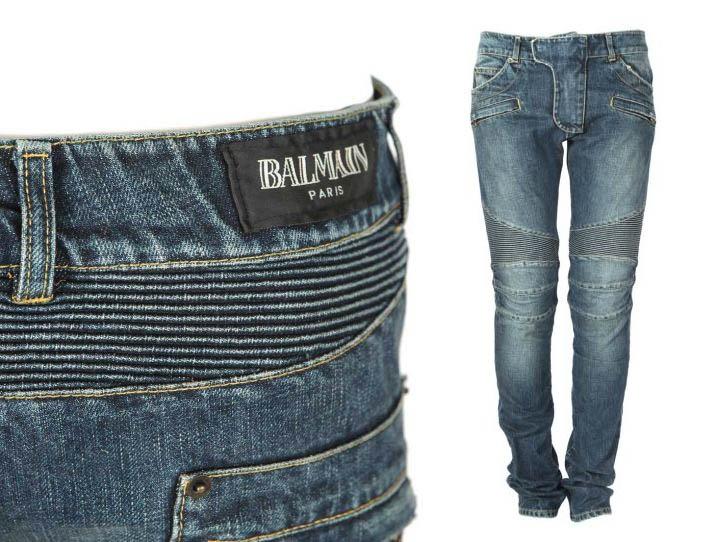 balmain jeans men 39 s pre owned biker jean pants paris the gentle men pinterest balmain. Black Bedroom Furniture Sets. Home Design Ideas
