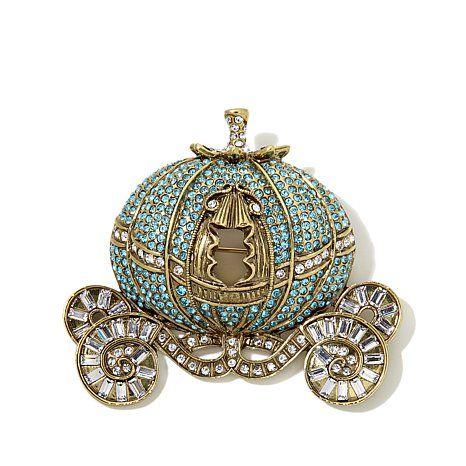 """Shop Heidi Daus """"Your Carriage Awaits"""" Crystal Pin  (HSN's Cinderella collection)"""