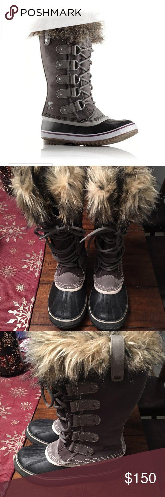 New Sorel Joan of arc boots Worn twice. Sorel Shoes Winter & Rain Boots