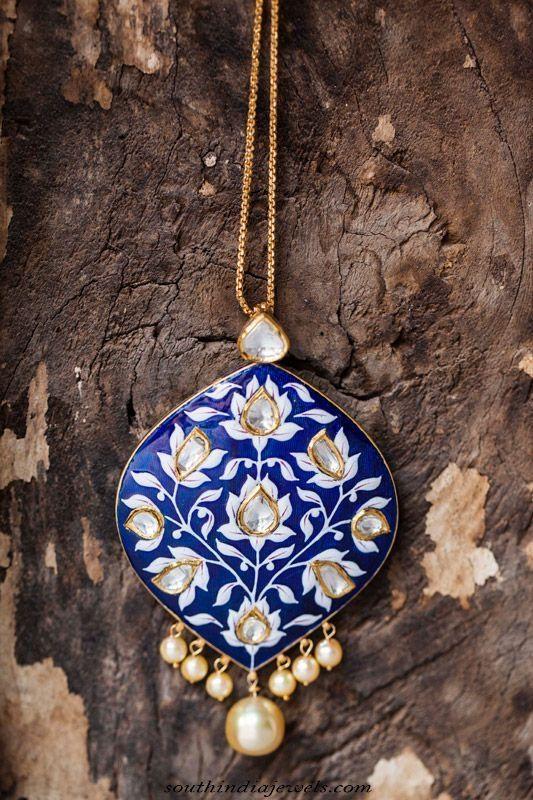 Designer pendant necklace by Sunita Shekhawat ~ South India Jewels