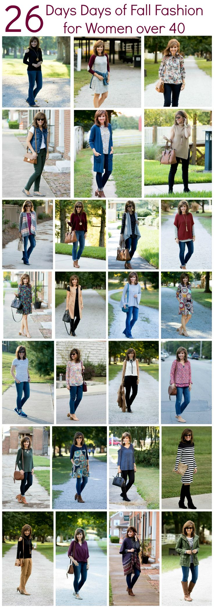 I'm finally getting around to sharing my 26 Days of Fall Fashion for Women over 40. This post always takes me longer to do than what I think it will take.