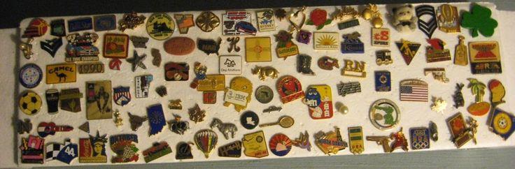Lot of 106 Vintage Pins Football Flag IBM Balloon Bear Liquor Fraternal Gun  #7