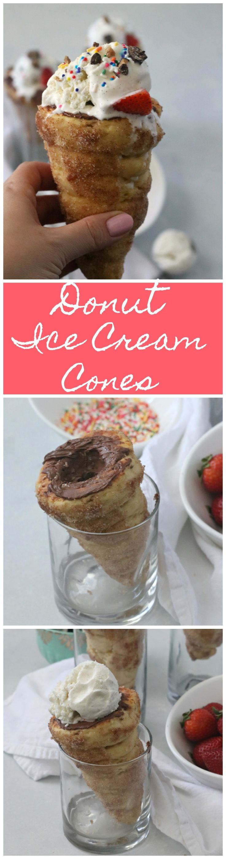 Celebrate summer and your sweet tooth with this delicious donut ice cream cone recipe!
