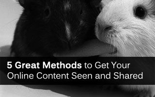 5 fresh ideas for getting your awesome online content shared and seen by everyone.