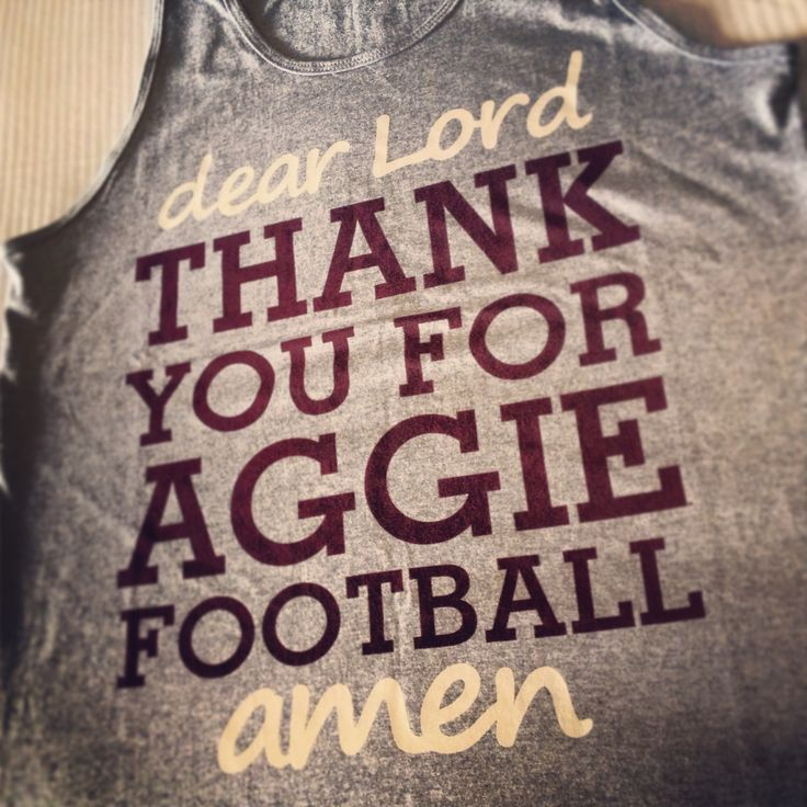 Love me some Aggie Football!