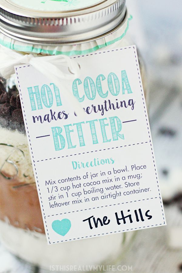 Hot Chocolate Mix In A Jar Free Printable Hot Cocoa Gift Tag Half Scratched Recipe Chocolate Mix Cocoa Gift Hot Cocoa Gift