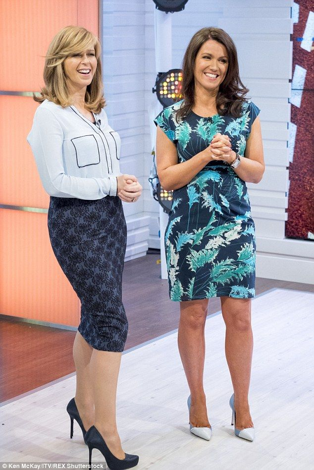 Perfect: Susanna Reid showed off her famous figure in a form-fitting blue dress, which fea...