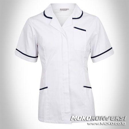 SERAGAM PERAWAT, MEDIS & PAKAIAN RUMAH SAKIT. Model Baju Putih Perawat Untuk Kerja.