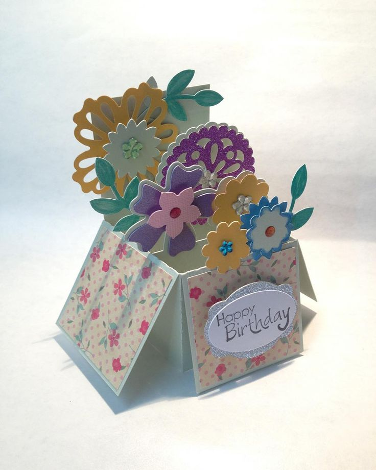 Download Beautiful floral birthday box card by Carol using the Box ...
