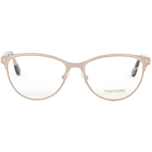 Tom Ford Rose gold cat-eye optical glasses ($310) ❤ liked on Polyvore featuring accessories, eyewear, eyeglasses, glasses, pink glasses, tortoiseshell glasses, tom ford eye glasses, cat eye tortoise shell eyeglasses and cat eye eyeglasses