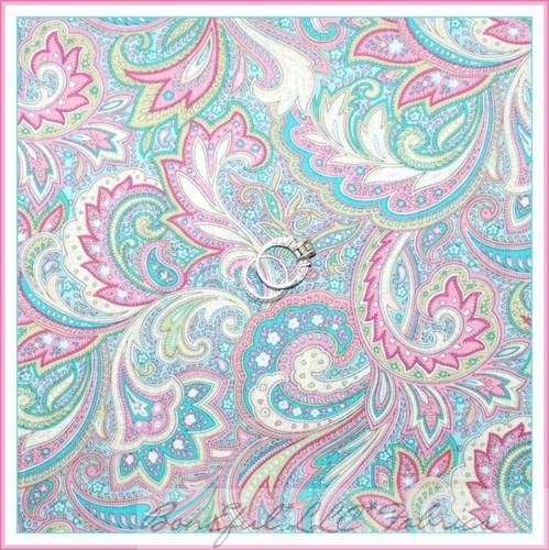 Pink Fuchsia Aqua Teal White Paisley Colours Pinterest