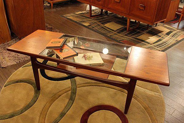 Gplan(ジープラン) ガラストップ ソファテーブル++rectangle++ | at's *Antique & Vintage* Furniture & Lightings*