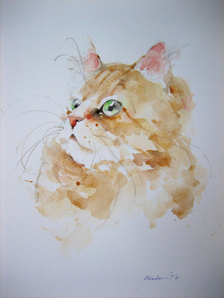 "IMG_4820 | Aquarell""Rote Katze"",24x32 cm 