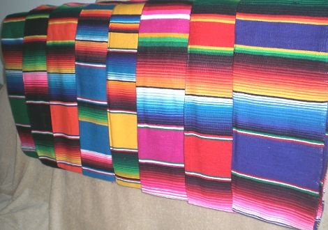 Did you know that the correct name for the colorful Mexican blankets you have probably seen at your neighborhood Mexican restaurant is Serape?
