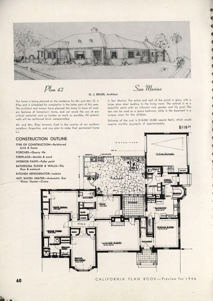 347 best VinTagE HOUSE PlanS1940s images – How To Make A House Plan On Paper