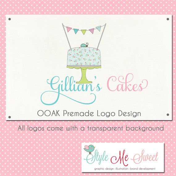 Premade Logo Design OOAK  A Cake Bunting by stylemesweetdesign, $75.00
