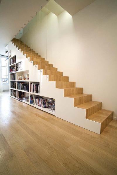 Escalier bibliothèque. http://www.m-habitat.fr/escaliers/types-d-escaliers/comment-choisir-son-escalier-679_A