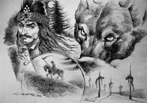 Vlad Tepes Draculea The Impaler art by Tora