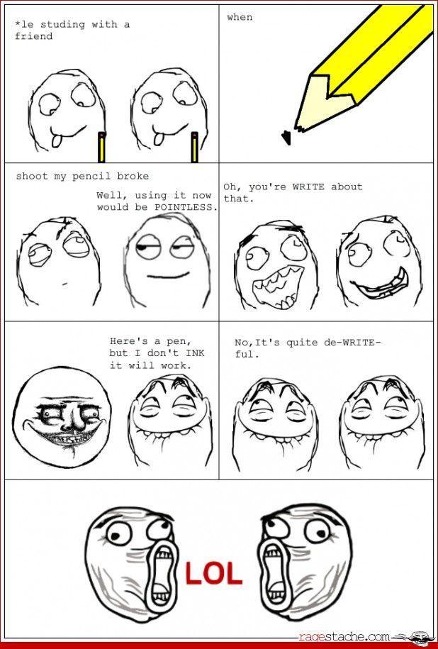 Funny Meme Comics : Pencil time other jul rage comics