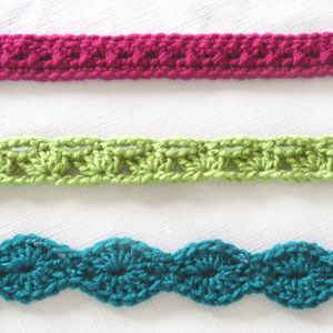 crochet accent belts