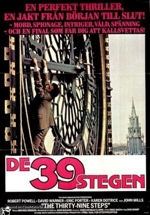 The Thirty Nine Steps - Swedish Movie Poster