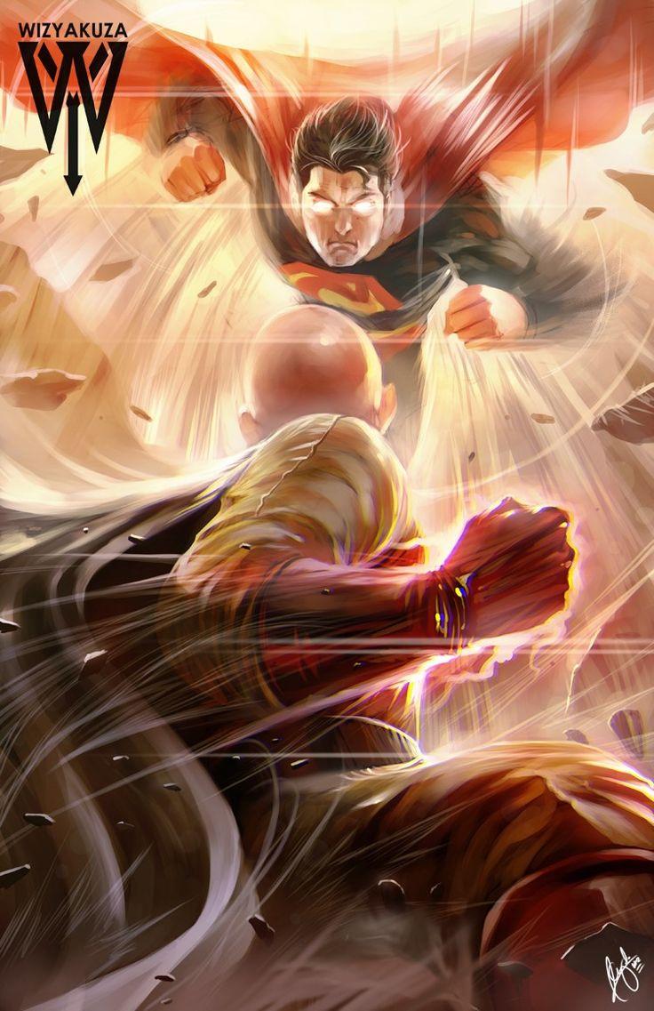 - One Punch Man - Saitama vs Superman