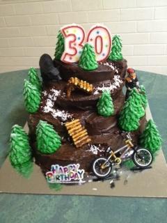 Chris' Downhill Biking Cake
