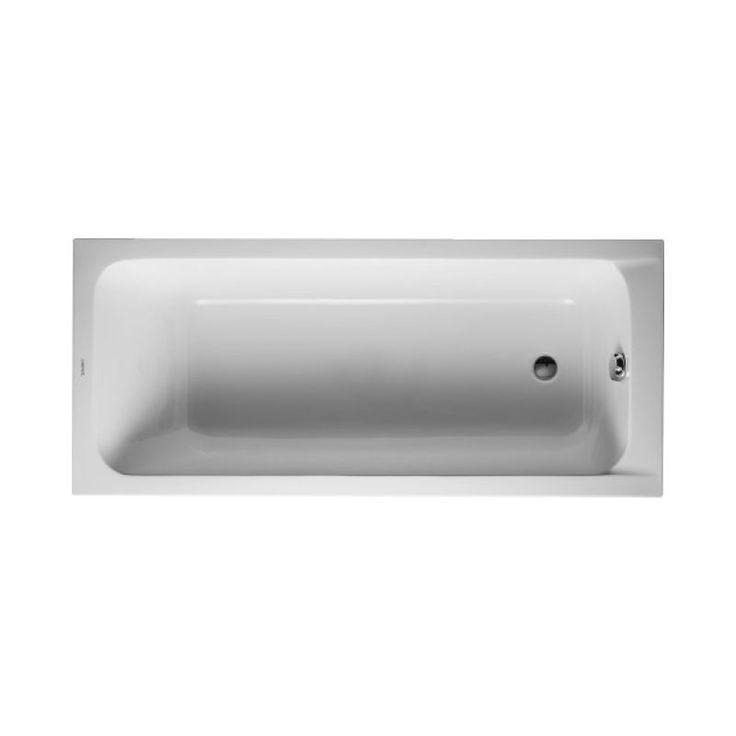Acheter BAIGNOIRE D-CODE 160X70 BLANC AVEC PIEDS DURAVIT moins cher sur materiel-plomberie.com