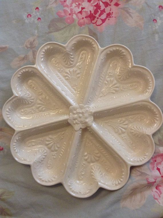 Mottahedeh Queensware Creamware Heart Server by FrenchCountryGirl, $35.00