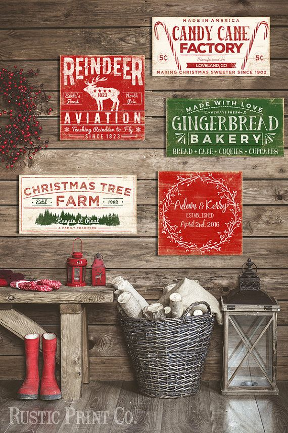 Christmas Tree Farm Sign Wood Holiday Sign by RusticPrintCo