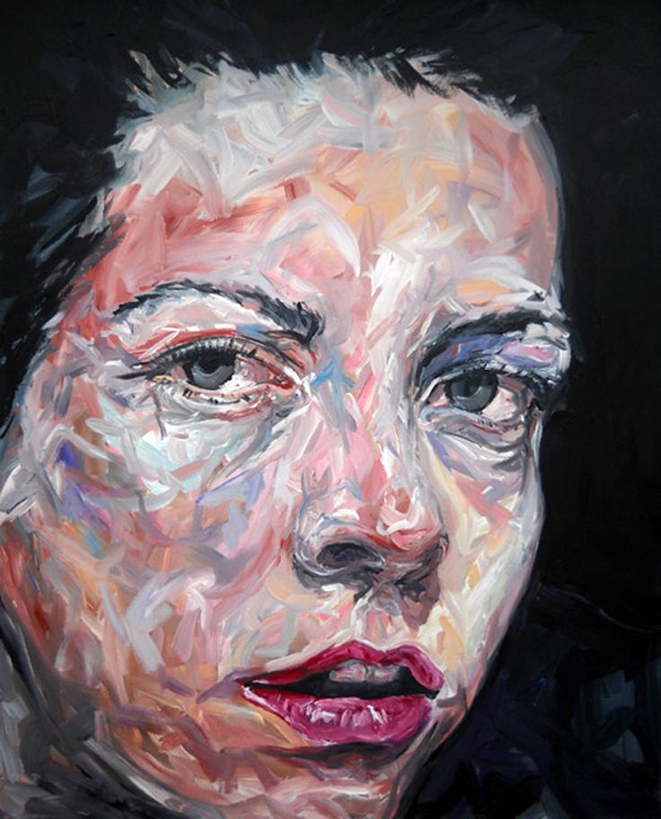 Expressive paintings using broad brushstrokes by Fred Calmets