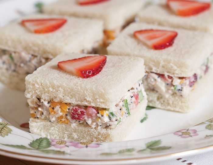 """  This Strawberry–Chicken Salad tea sandwiches will be a wonderful combination for your tea"""