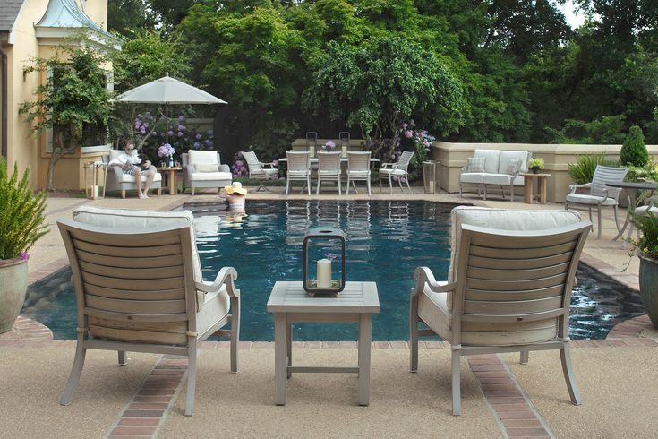 Wonderful Outdoor Furniture From Summer Classics Palm Wrought Aluminum