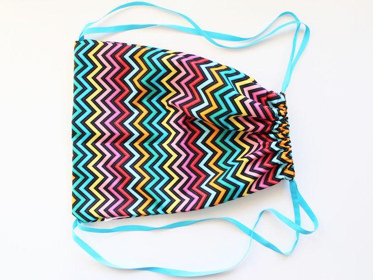 Plecakoworek 30x40 w kolorowy zygzak w lagablotte na DaWanda.com/ Multicolor backpack for kids on DaWanda.com