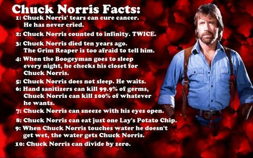 """#7 is my favourite """"Chuck Norris can sneeze with his eyes open"""""""