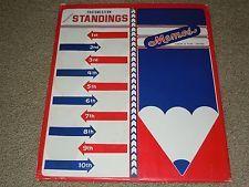 RARE SWC SOUTHWESTERN COLLEGE STANDINGS BOARD Vintage NCAA RUBBER FRIDGE MAGNETS