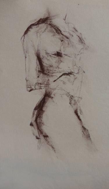 "Saatchi Art Artist Kjersti B Sveberg; Drawing, ""Turn"" #art"
